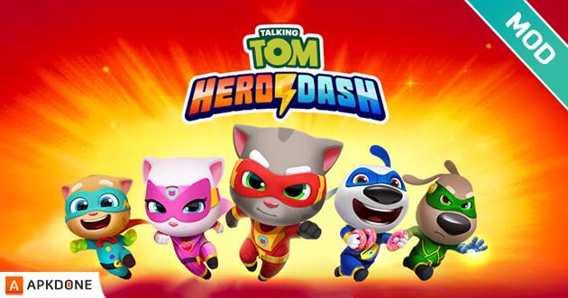 Talking Tom Hero Dash MOD APK 1 1 4 617 (Unlimited Money) Download