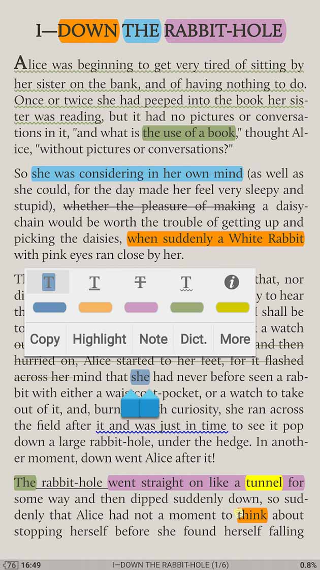 Moon+ Reader Pro screenshot 2