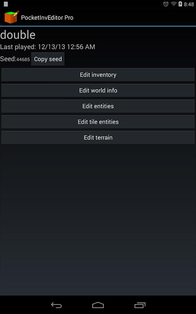 PocketInvEditor Pro screenshot 1