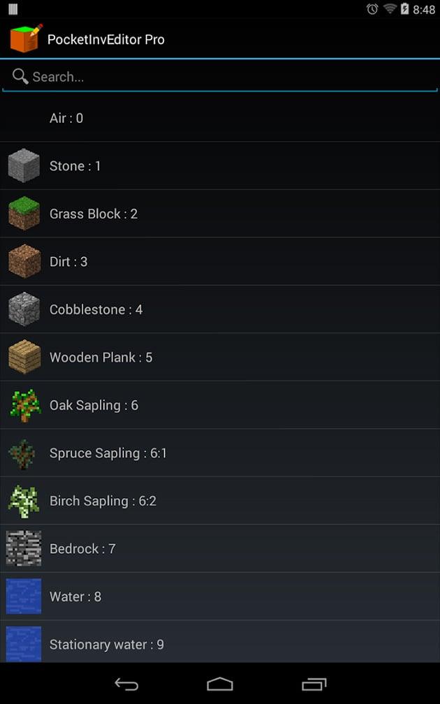 PocketInvEditor Pro screenshot 2