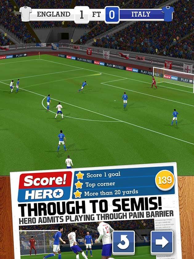 Score Hero ekran görüntüsü 1