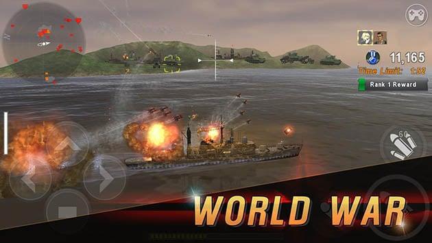 Warship Battle: 3D World War II screenshot 1