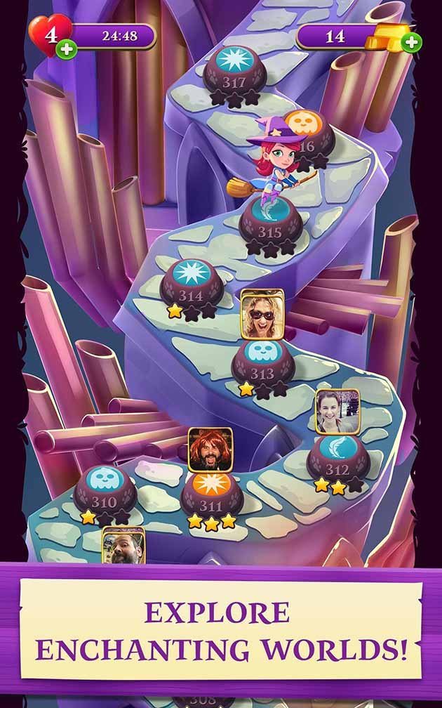 Bubble Witch 3 Saga Mod Apk 7 3 29 Download Unlimited Life For Android
