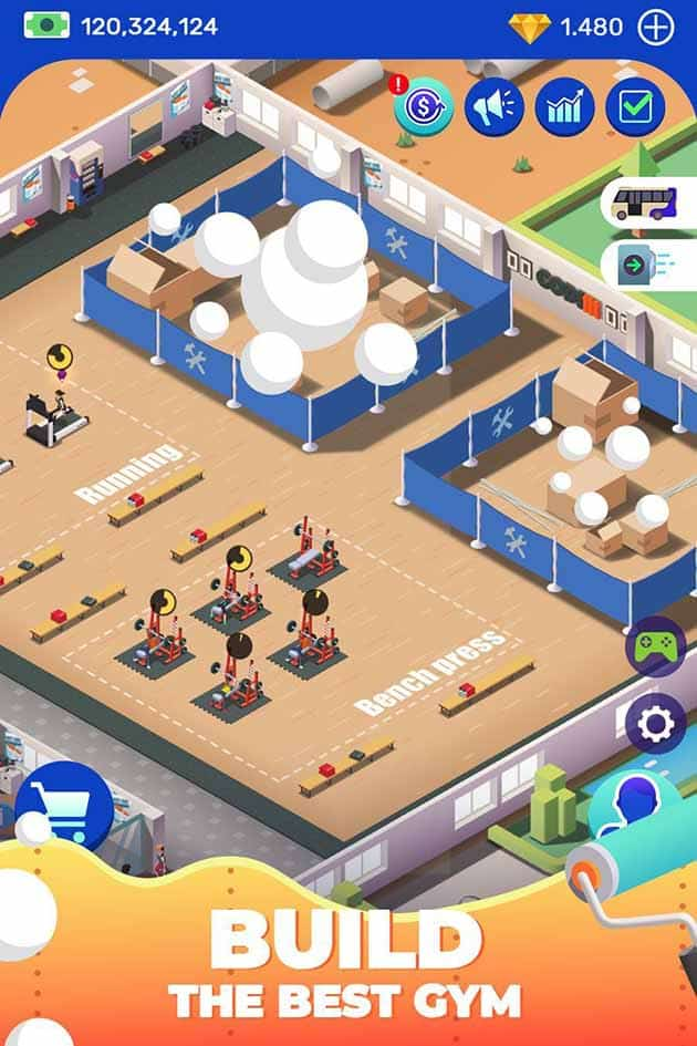 Idle Fitness Gym Tycoon screenshot 3