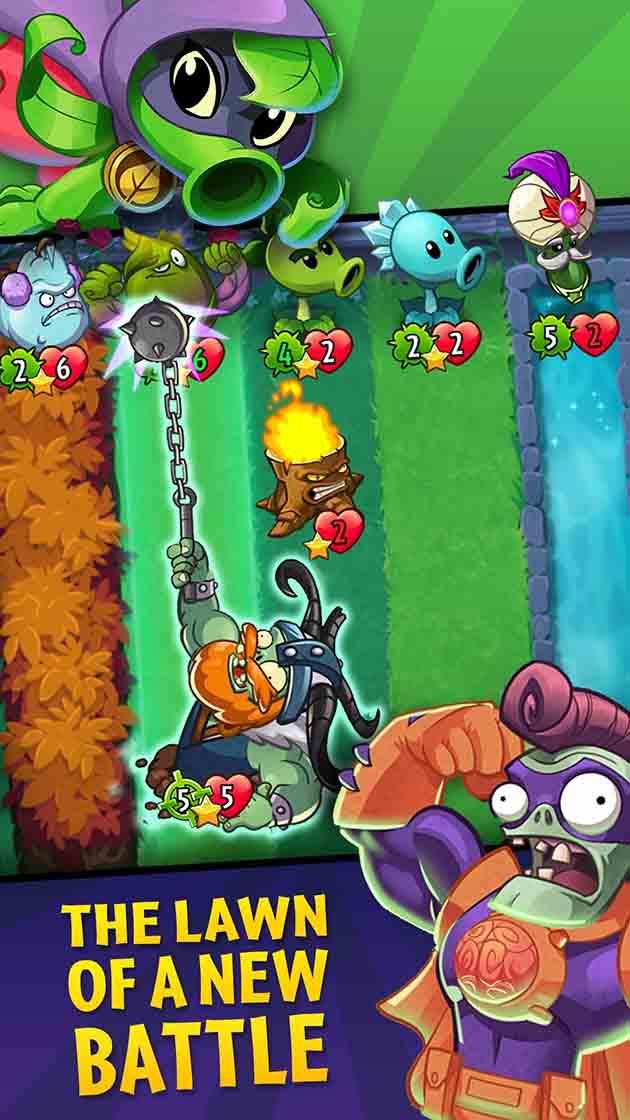 Screenshot 1 de Plants vs Zombies Heroes