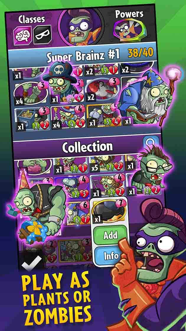 Screenshot 3 de Plants vs Zombies Heroes