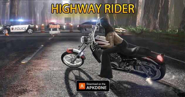 Highway Rider Motorcycle Racer poster