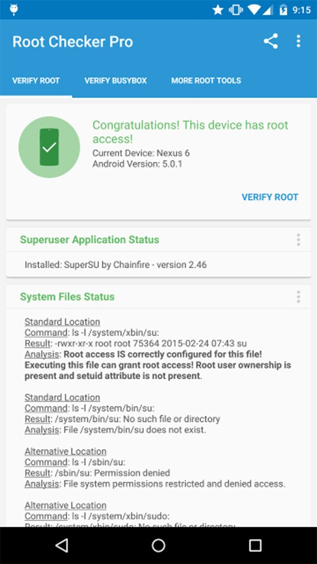 Root Checker Pro screenshot 1
