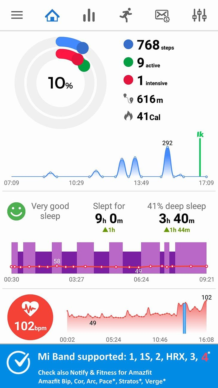 Notify and Fitness for Mi Band screenshot 1