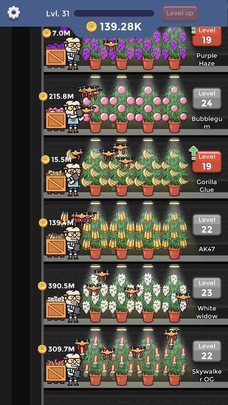 Weed Factory Idle screenshot 2