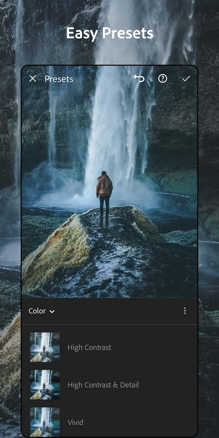 Adobe Lightroom mobile screenshot 2
