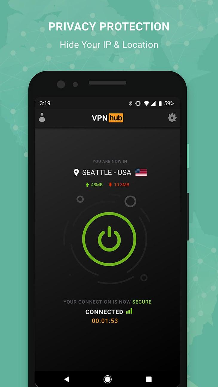 VPNhub screenshot 1