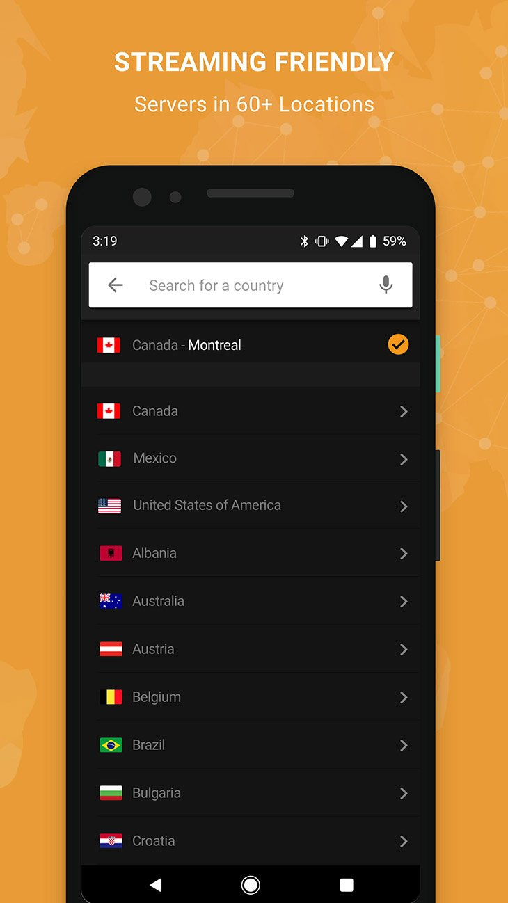 VPNhub screenshot 2