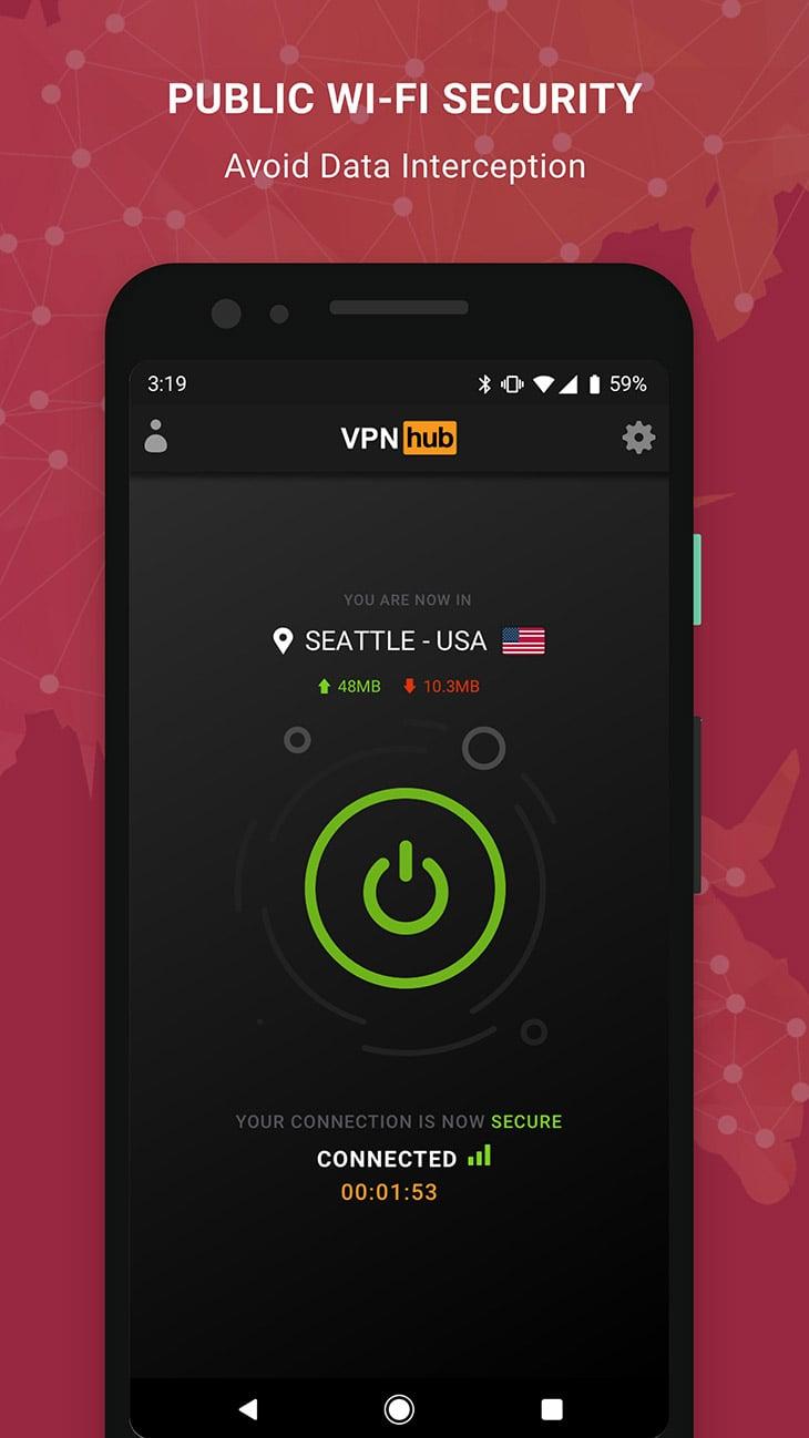 VPNhub screenshot 3