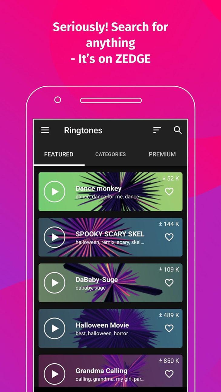 ZEDGE Wallpapers and Ringtones screenshot 2