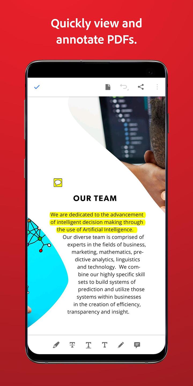 Adobe Acrobat Reader screen 1