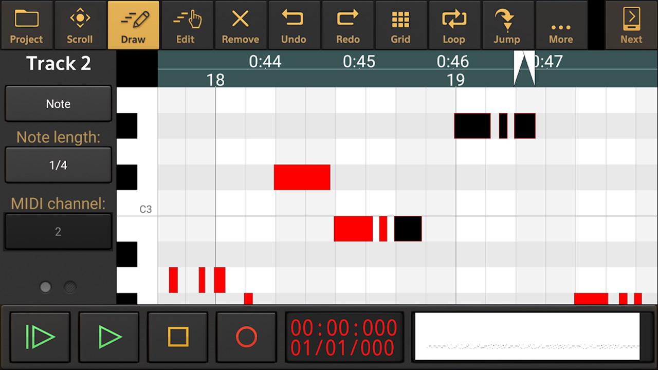 Audio evolution mobile studio screen 3