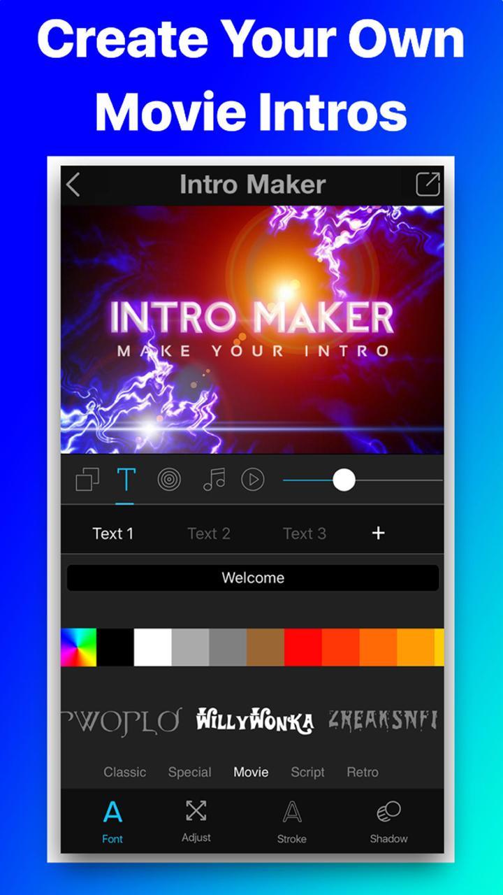 Intro Movie Vlog Trailer Maker screen 2