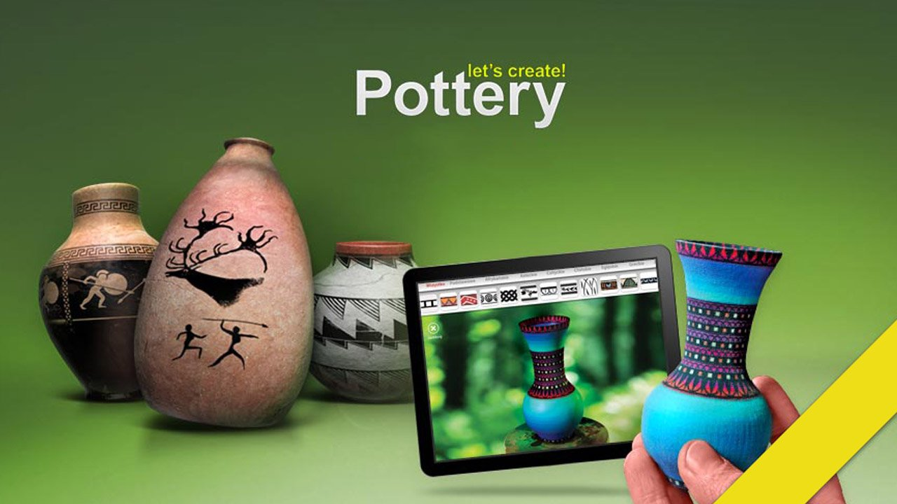 Let's Create Pottery poster