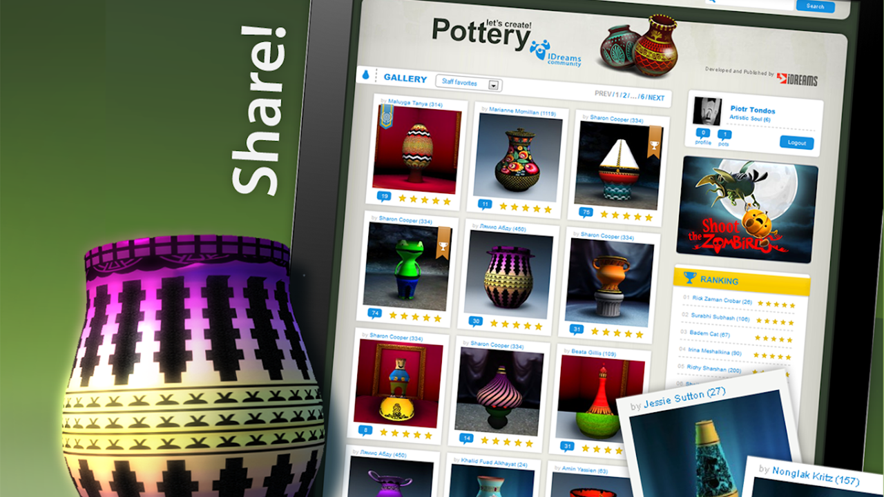 Let's Create Pottery screen 4