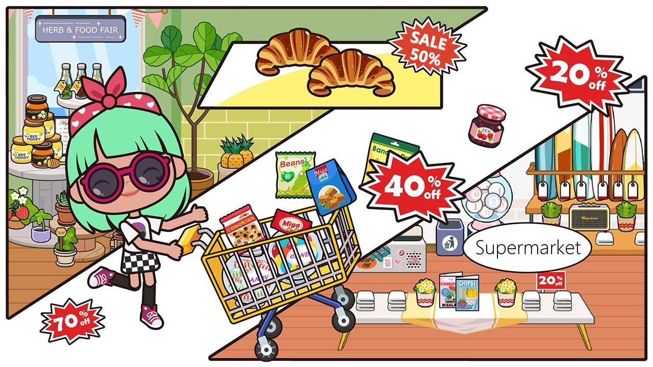 Miga Town My Store screen 1