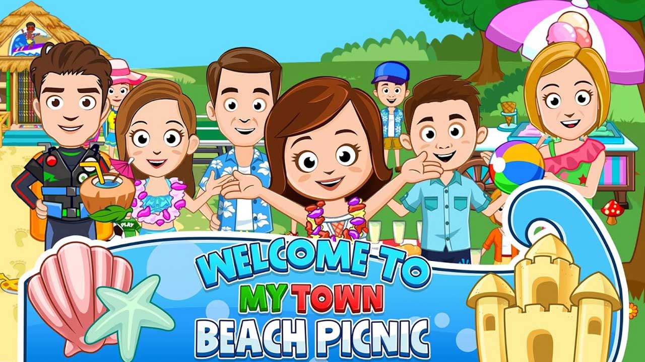 My Town Beach Picnic poster