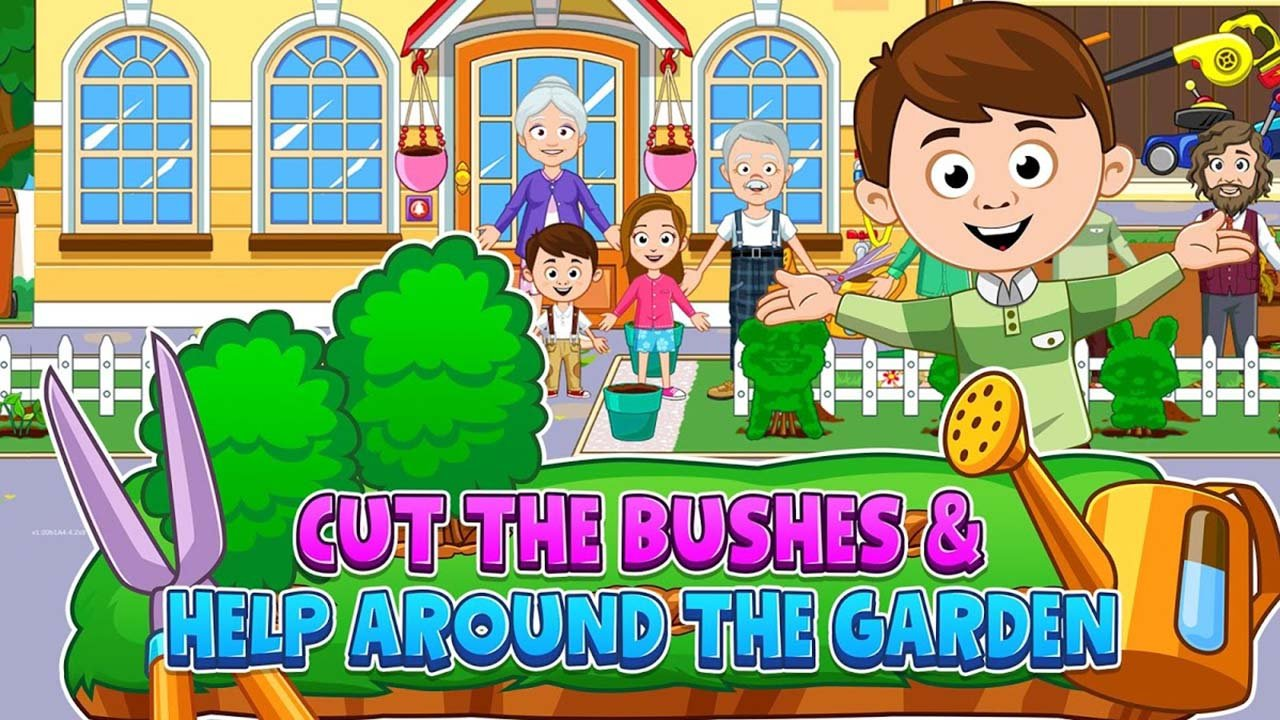 My Town Grandparents MOD APK 32.32 Download Paid for free free ...