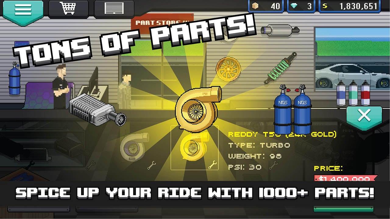 Pixel Car Racer screen 2