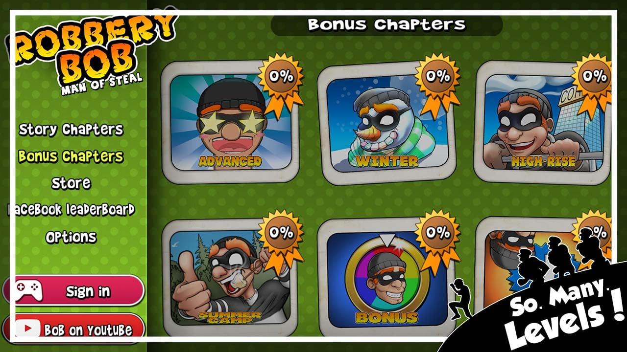 Robbery Bob screen 1