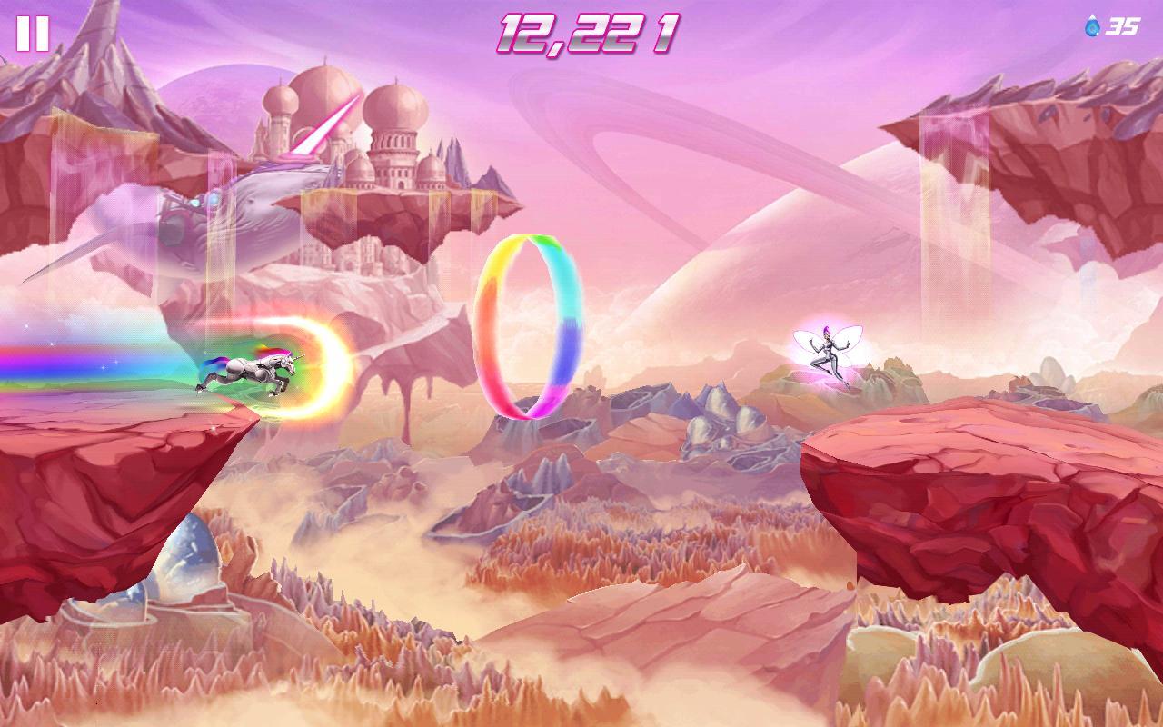 Robot Unicorn Attack screen 1