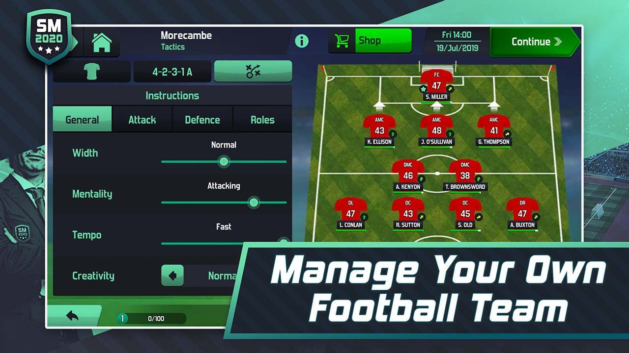 Soccer Manager 2020 screen 2