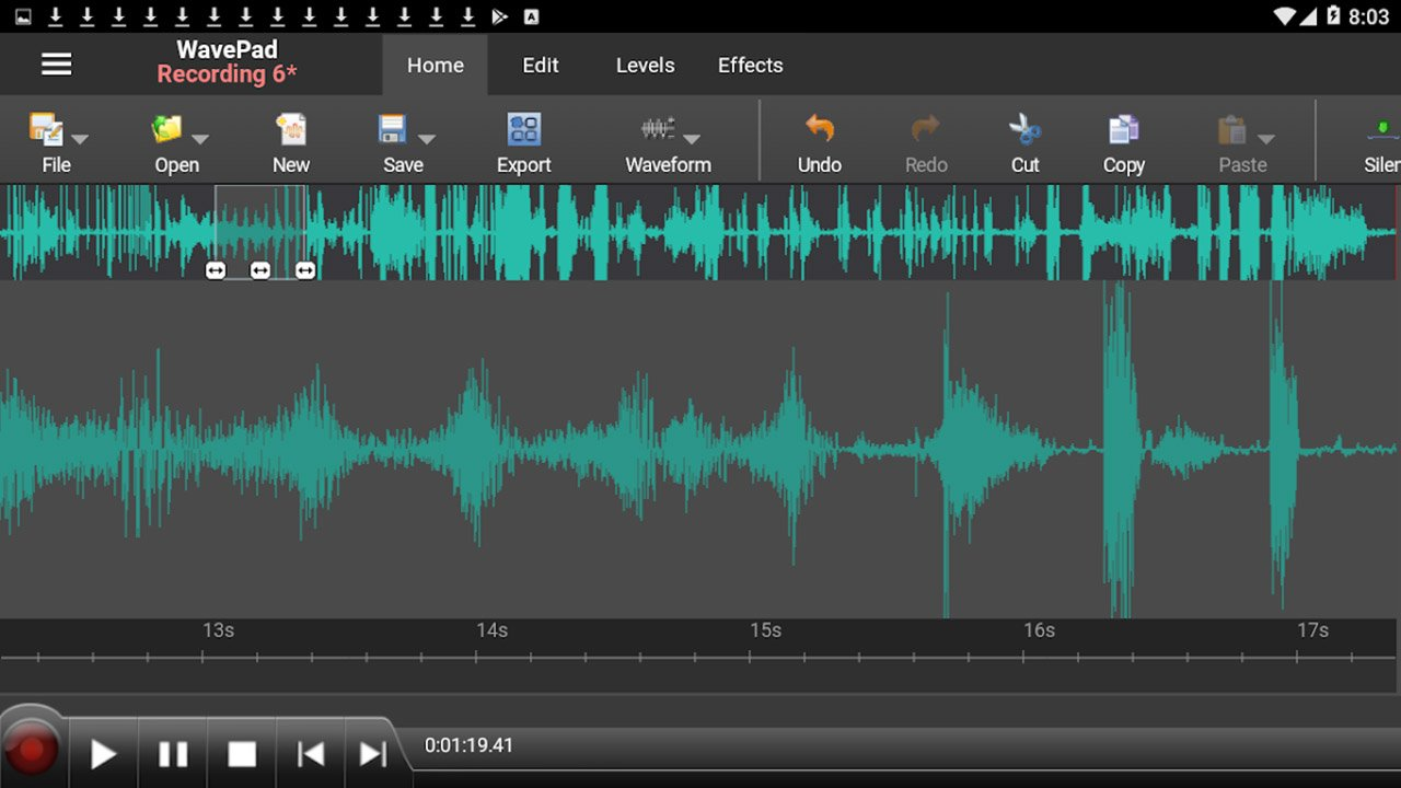 WavePad Master's Edition screen 4