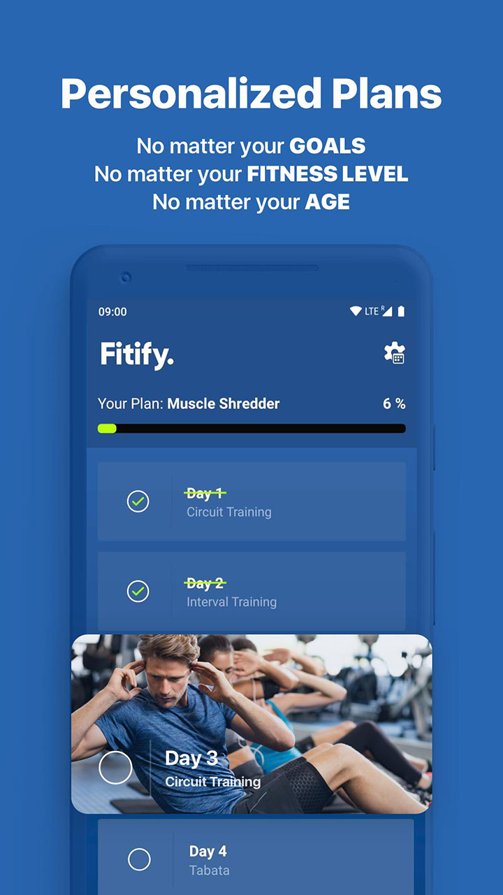 Fitify Workout Routines and Training Plans screenshot 3