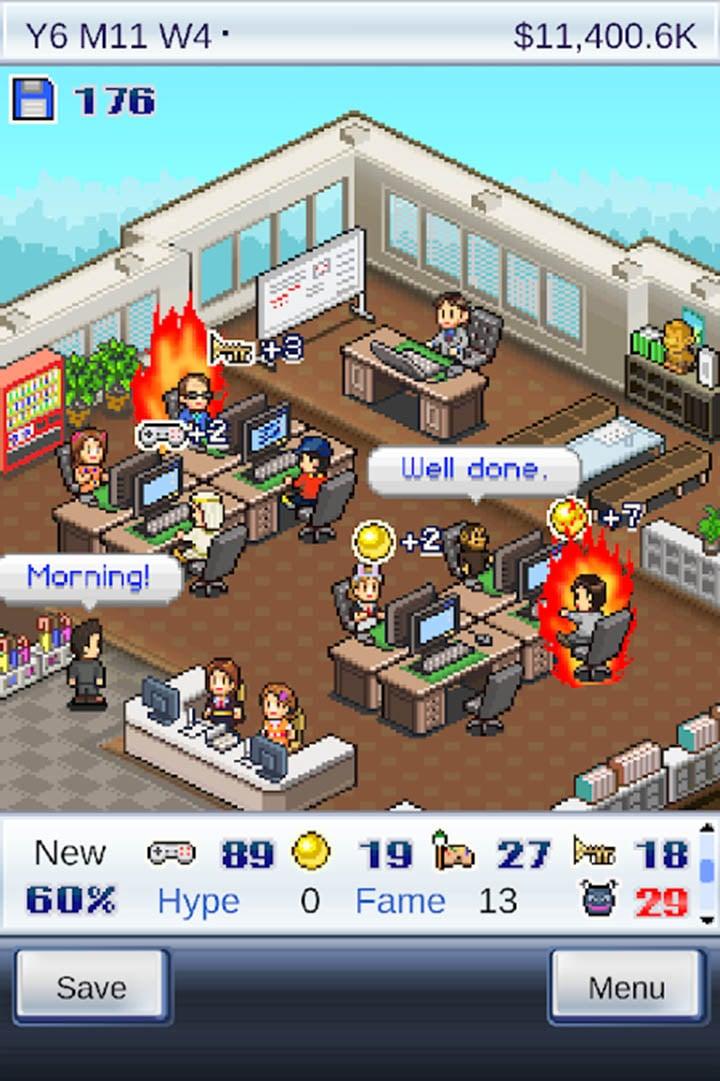 game dev story screen 1