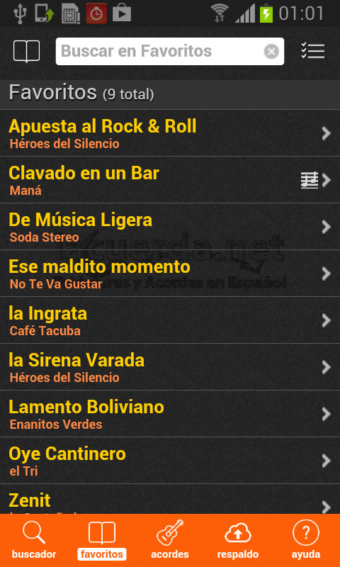 Latin Chords Pro app screenshot 1