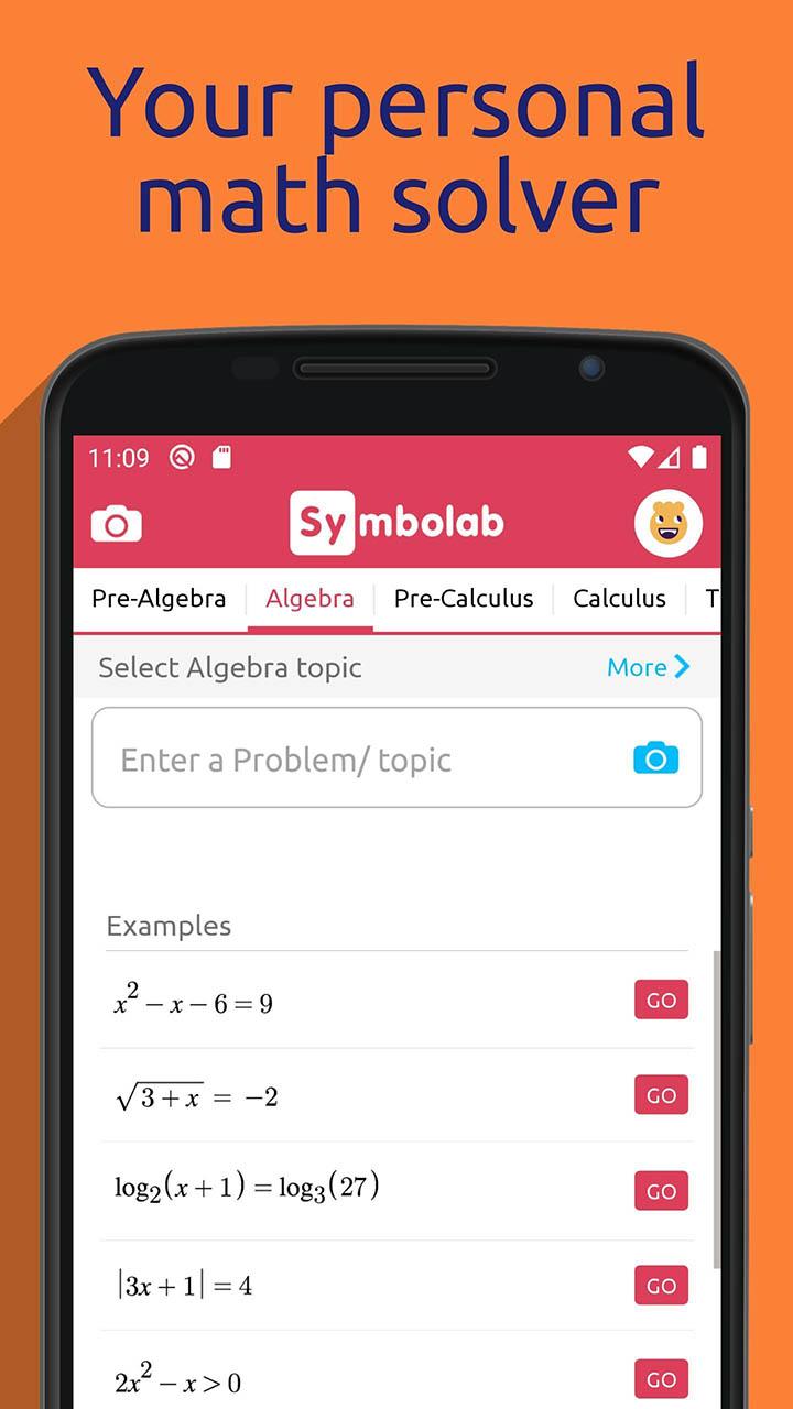 Symbolab Math solver screenshot 1