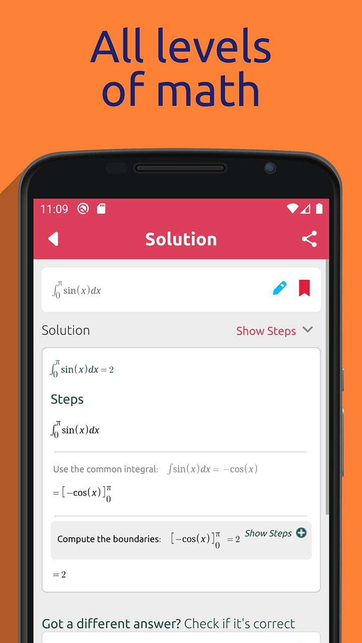 Symbolab Math solver screenshot 3