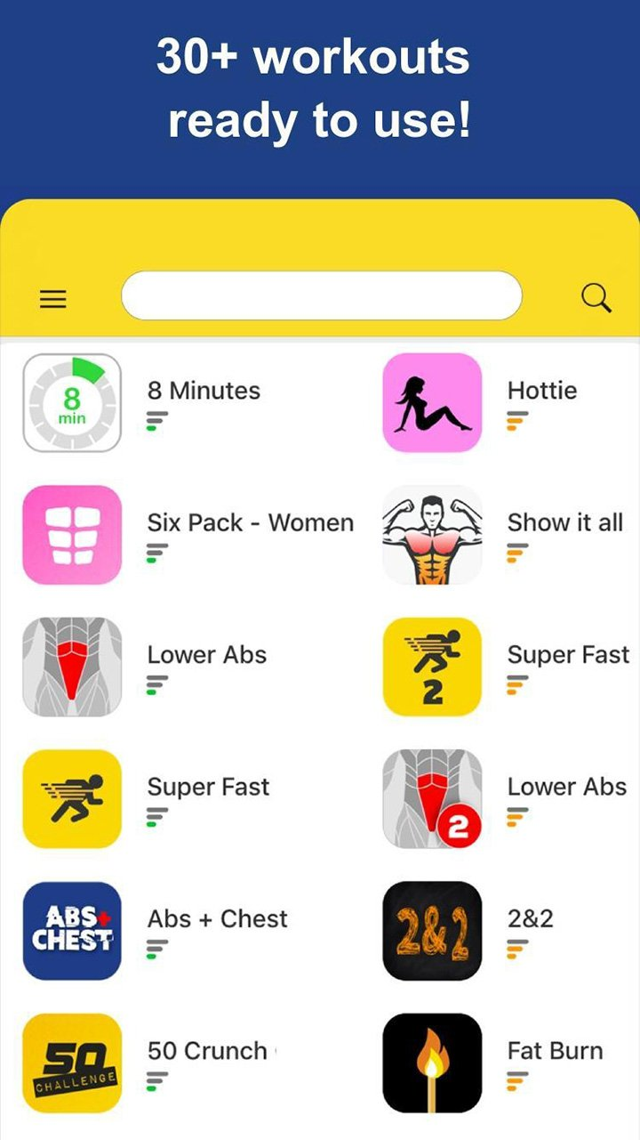 Abs Workout screen 3