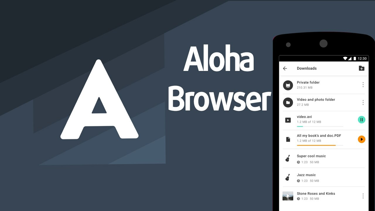 Aloha Private Web Browser for Android, iPhone and iPad