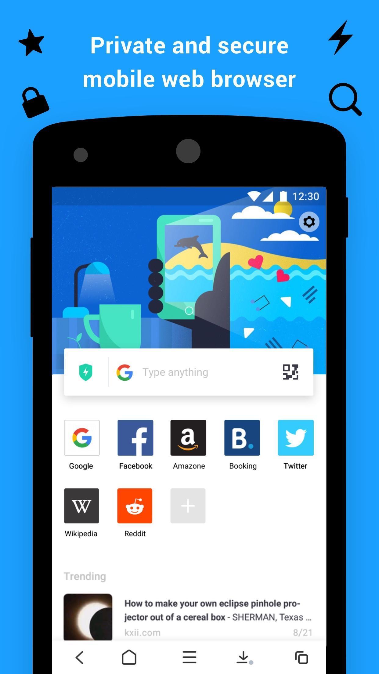 Aloha Browser screen 0