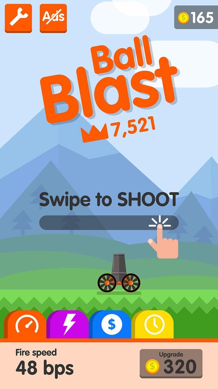 Ball Blast screen 5