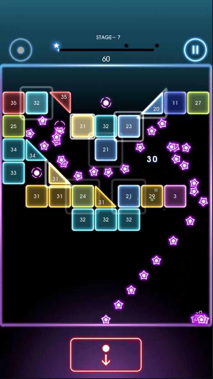 Bricks Breaker Quest screen 1