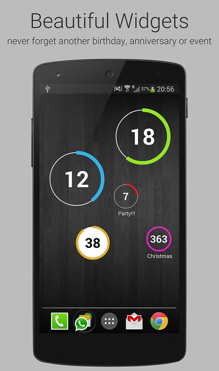 Countdown Widget screen 1