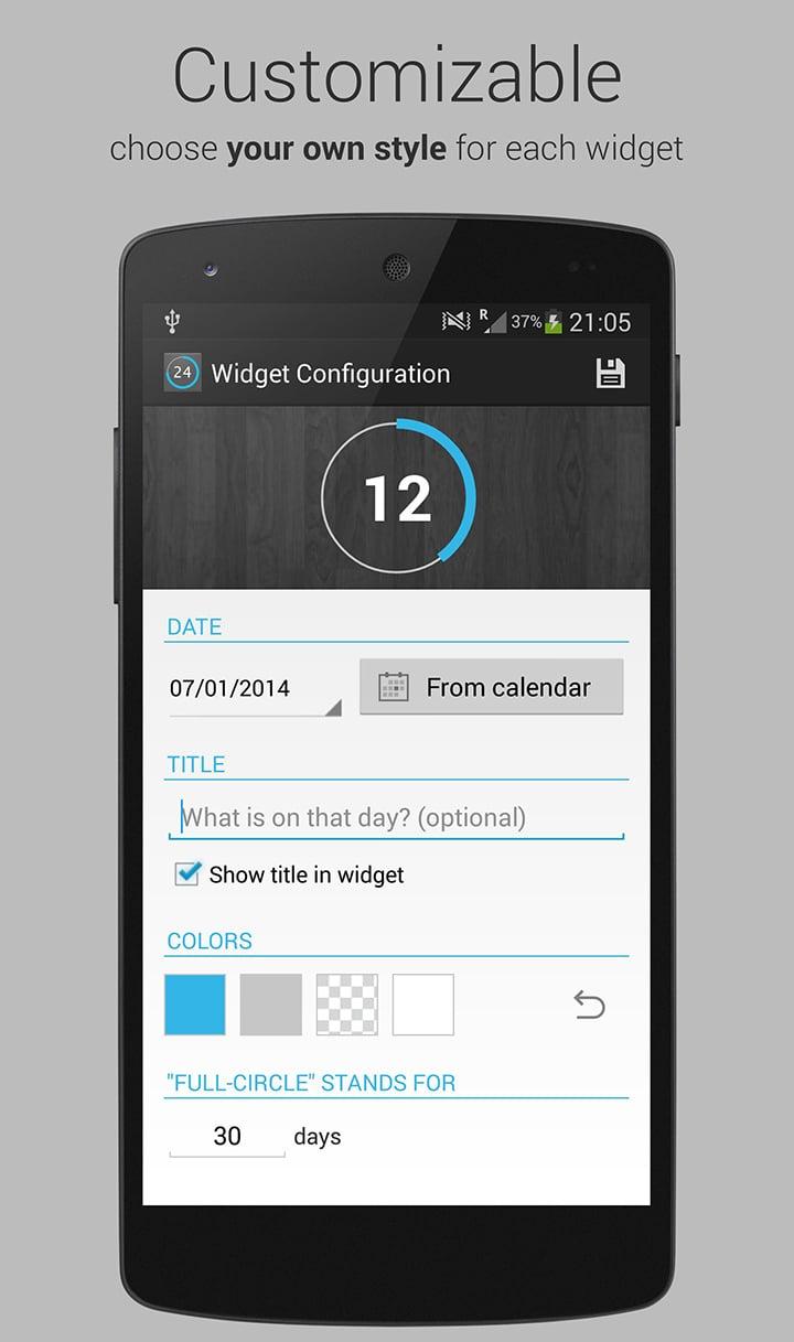 Countdown Widget screen 2