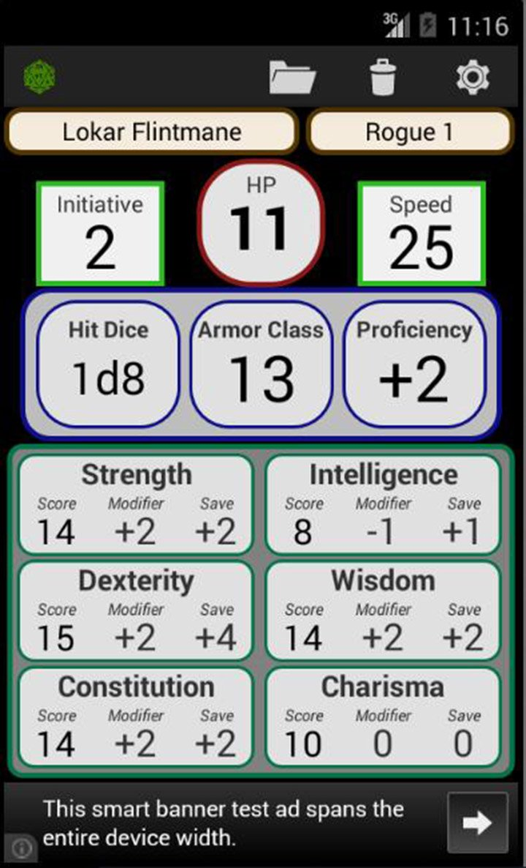 Fifth Edition Character Sheet screen 0