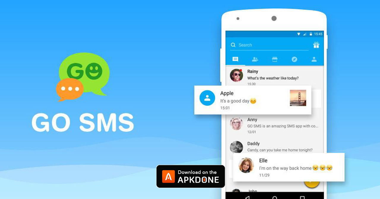 go sms pro premium apk free download for android