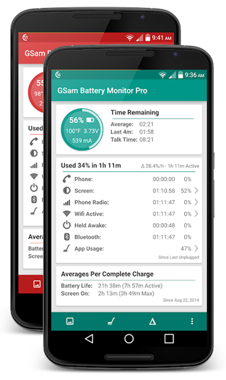 GSam Battery Monitor Pro screen 3