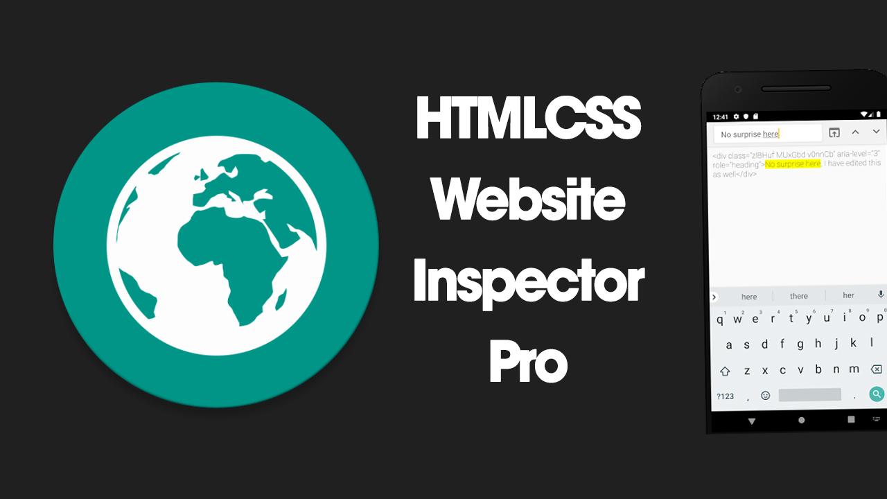 HTMLCSS Website Inspector Pro poster