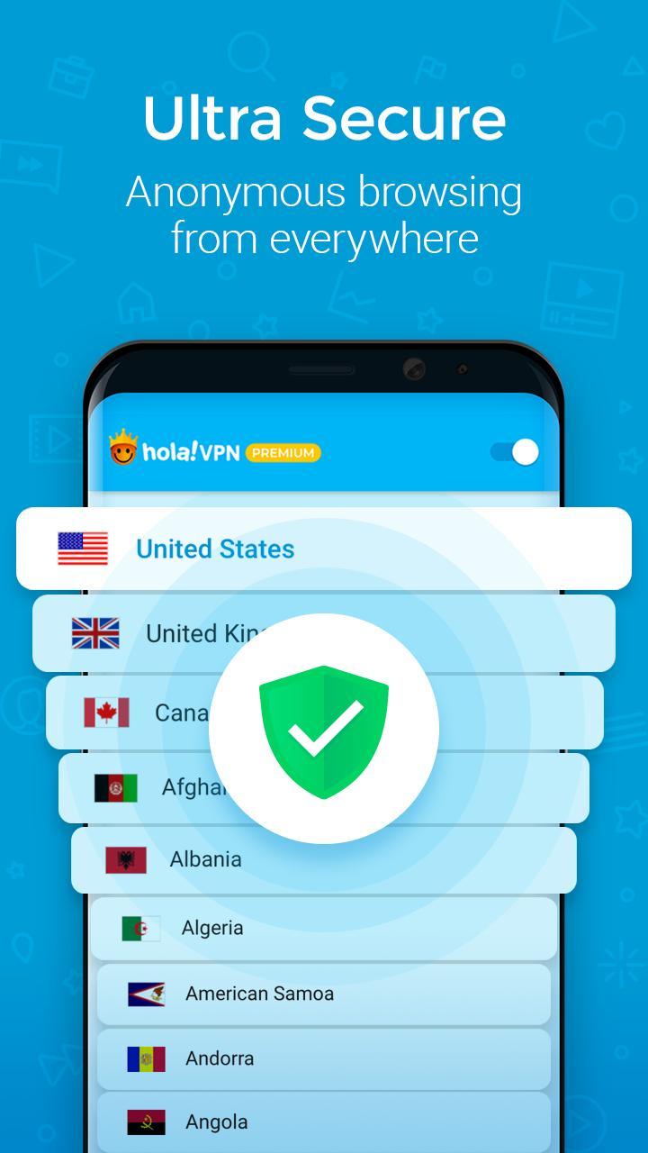 Hola VPN screen 2