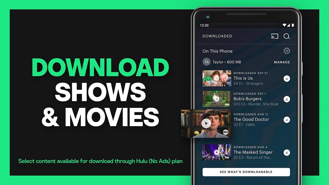 Hulu screen 1